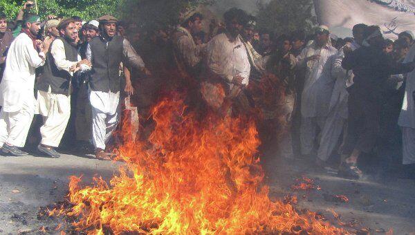 Протесты в Афганистане против сжигания Корана американским пастором