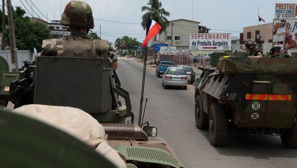 Французские военные в Кот-д'Ивуаре