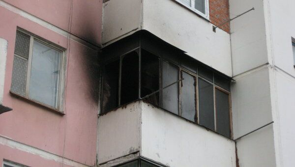 пожар на балконе в Краснодаре