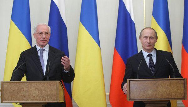 Встреча премьер-министров РФ и Украины В. Путина и Н. Азарова