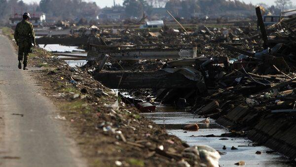 Последствия землетрясения в префектуре Мияги, Япония, 16 апреля 2011 г.