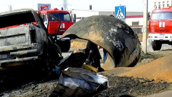Взрыв цистерны с газом уничтожил газонаполнительную станцию и 6 машин