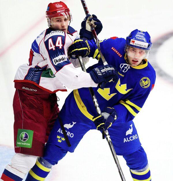 Николай Белов и Маттиас Сьёгрен (слева направо)