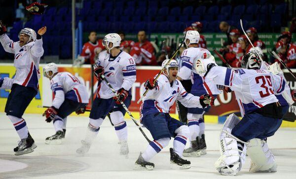 Хоккеисты сборной Франции