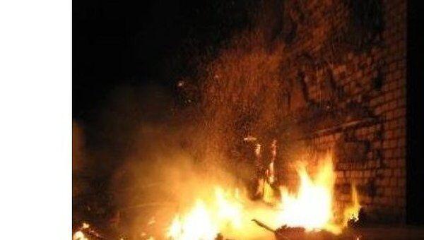 Пожар в поселке Молодежный в Астраханской области