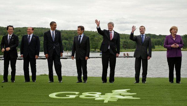 Представители стран большой восьмерки на саммите G8 в июне 2010 года