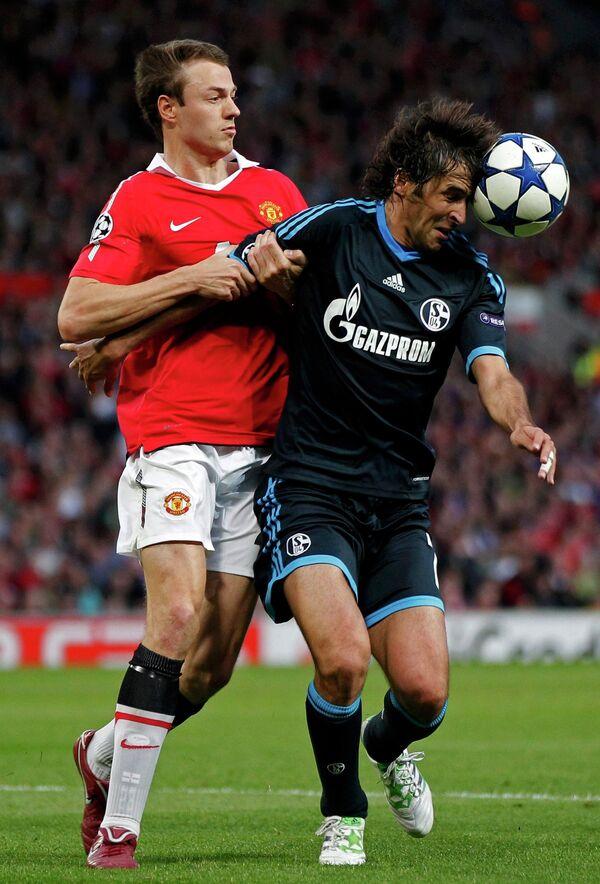 Игровой момент матча Манчестер Юнайтед - Шальке