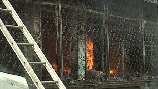 Пожар в жилом доме в Самаре. Видео с места ЧП