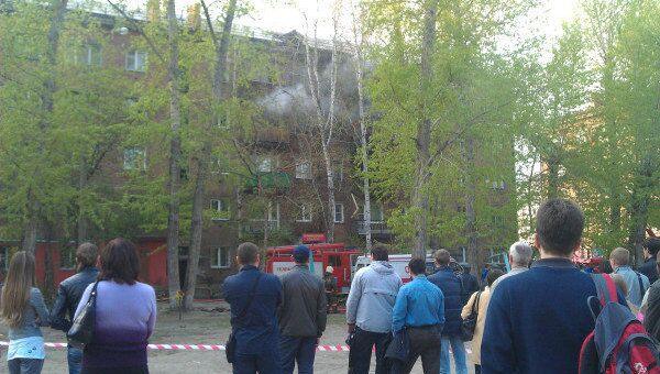Взрыв бытового газа в жилом доме в Новосибирске на проспекте Карла Маркса