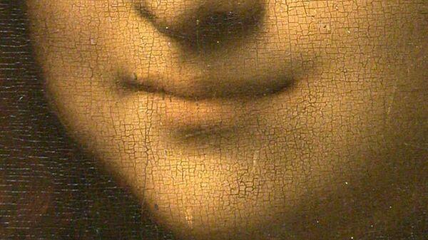 Улыбка Моны Лизы. Фрагмент картины Леонардо Да Винчи Мона Лиза (Джоконда). 1503-1505 гг. Находится в собрании Лувра, Париж.