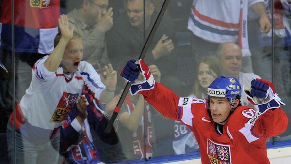 Нападающий сборной Чехии по хоккею Яромир Ягр. Архивное фото