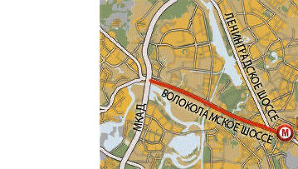 Участок Волоколамского шоссе от станции метро Сокол до МКАД отремонтируют к ЧМ-2018
