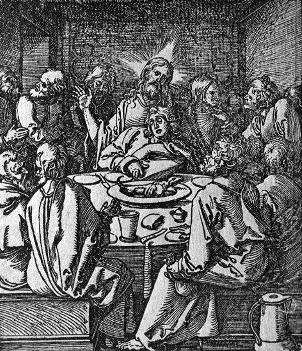 Рисунок Дюрера Тайная Вечеря