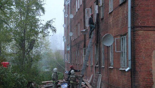 Обрушение жилого дома в Струнино Владимирской области
