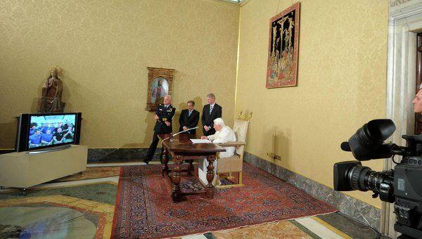 Папа Римский провел сеанс связи с МКС