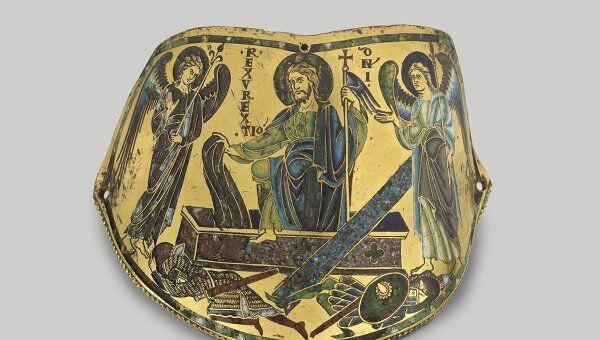 Наплечник (armilla). Воскресение Христово. Около 1170–1180. Мозельская школа. Хранится в музее Лувра в Париже