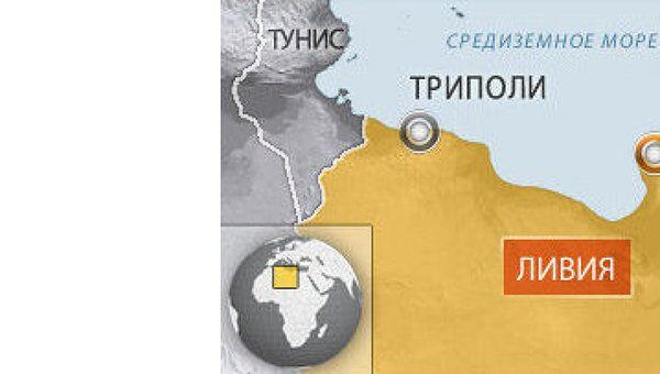 Ливия. Бенгази. Карта