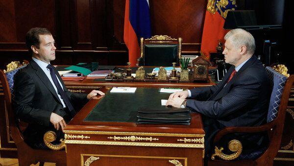 Встреча Дмитрия Медведева и Сергея Миронова