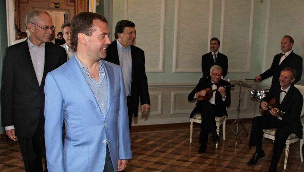 Встреча Дмитрия Медведева, Хермана ван Ромпея и Жозе Мануэла Баррозу в Нижнем Новгороде