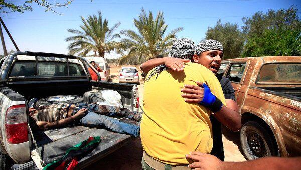 Пострадавшие от боевых действий в Ливии