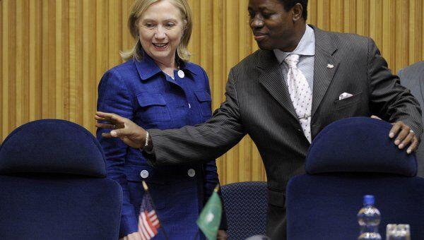 Госсекретарь США Хиллари Клинтон во время визита в Эфиопию
