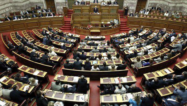 Голосование в парламенте Греции по вопросу доверия правительству Папандреу