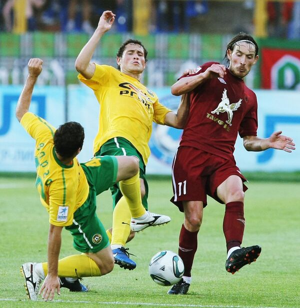 Игровой момент матча Рубин - Кубань