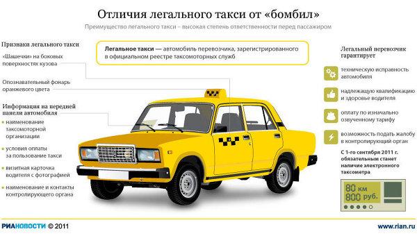 Отличия легального такси от бомбил
