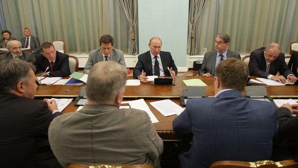 Премьер-министр РФ В.Путин встретился с деятелями отечественной мультипликации