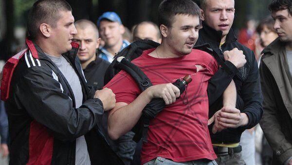 Участники несанкционированной акции протеста задержаны в Минске