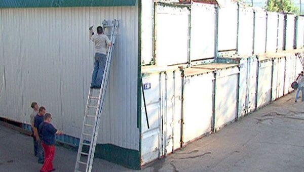 Торговые павильоны в Лужниках начали демонтировать