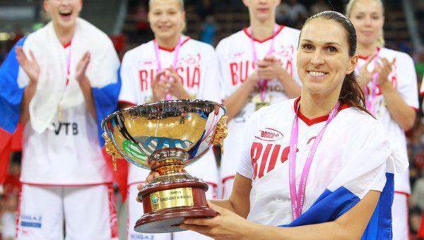 Баскетбол. Чемпионат Европы. Финальный матч. Россия - Турция - 59:42