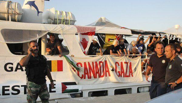 Греческая береговая охрана перехватила судно, шедшее в Газу. Архив
