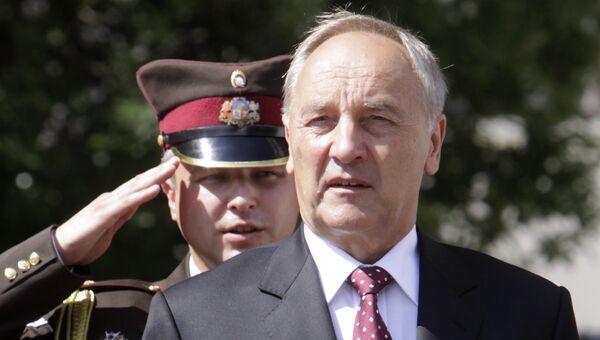 Инаугурация избранного президента Латвии Андриса Берзиньша. Архив