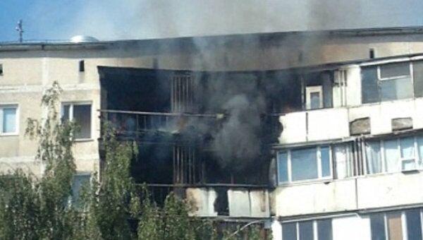 Три балкона сгорели в результате пожара на Чертановской улице в Москве