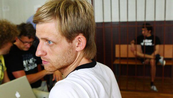 Заседание Таганского районного суда по делу об обстреле машины блогера Дмитрия Терновского