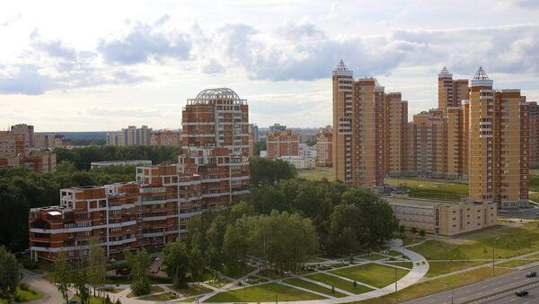 Новый жилой микрорайон Куркино в Северо-Западном округе Москвы