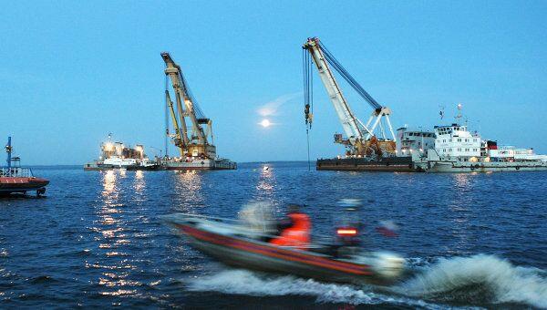 Место крушения корабля Булгария