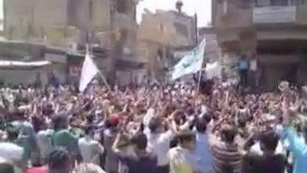Демонстрация в сирийской провинции Дейр Аз-Зор