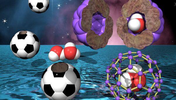Молекула воды в фуллерене C60