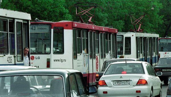 Пробки на дорогах в Москве