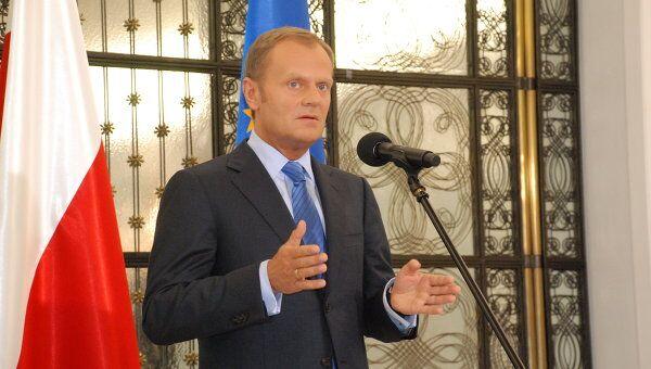 Премьер-министр Польши, лидер партии Гражданская платформа Дональд Туск