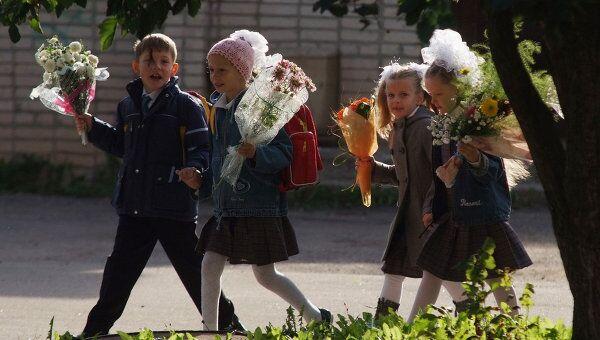 Праздник 1 сентября в Великом Новгороде. Архив