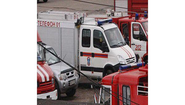 Общежитие военной академии горит на юго-востоке Москвы