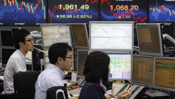 Торги фондового индекса Южной Кореи KOSPI