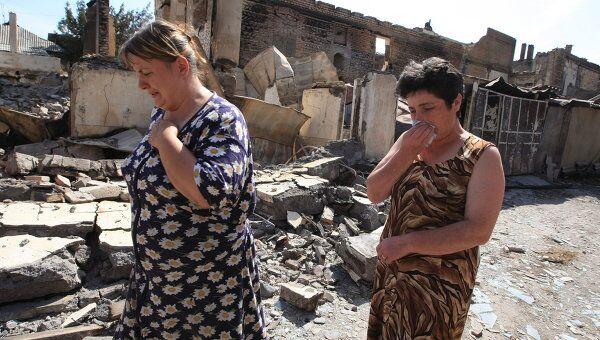 Цхинвали после разрушений