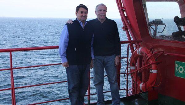 И.Левитин и И.Клебанов на борту ледокола Ямал во время арктического перехода по Северному морскому пути