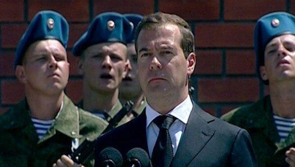 Медведев вручил орден Жукова бригаде спецназа, воевавшей в Южной Осетии