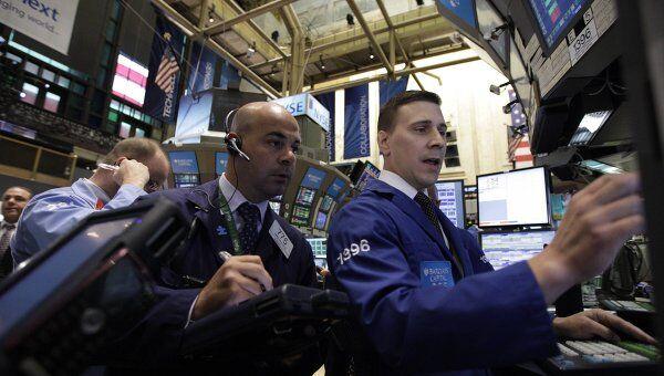 Работа Нью-Йоркской фондовой биржи (NYSE). Архив