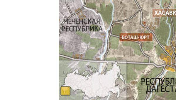 Дагестан. Хасавюрт. Карта